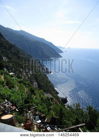 Top View Of The Gulf Of 5 Terre D