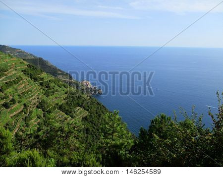 Top View Of The Gulf Of 5 Terre L