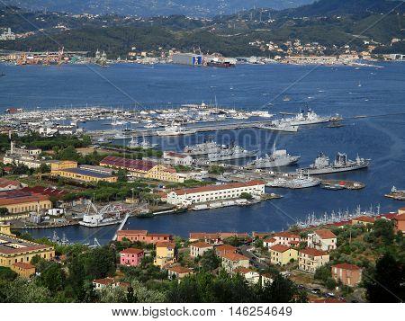 Top View Of The Gulf Of La Spezia C