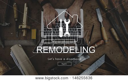 Technology Renovation Casual Carftsperson Concept