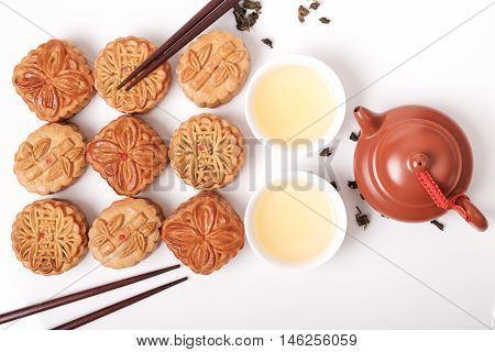Moon Cakes For Chinese Mid-autumn Fastival