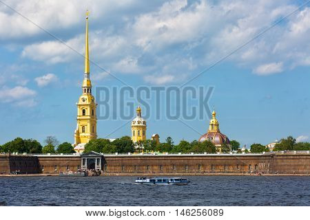 Peter and Paul Fortress in sunny day St.Petersburg Russia