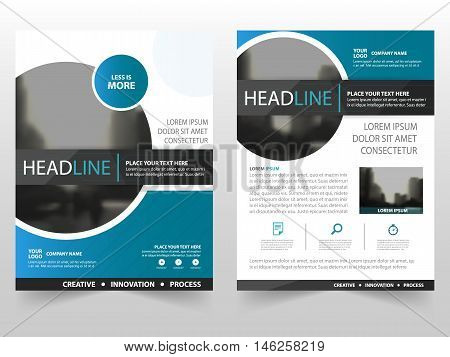 Blue black circle business Brochure Leaflet Flyer annual report template design book cover layout design abstract business presentation template a4 size design