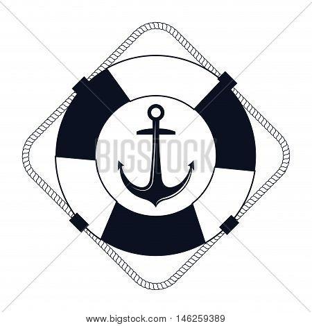 icon lifebuoy nautical label isolated vector illustration eps 10
