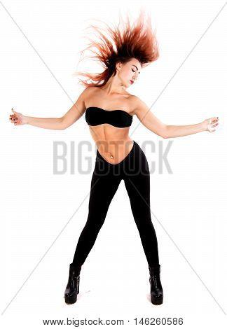 Dancing Redhead Woman