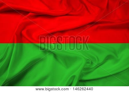 Waving Flag of La Paz Bolivia, with beautiful satin background