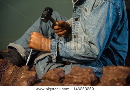 Manual worker model for heavy industry Construction and exploration