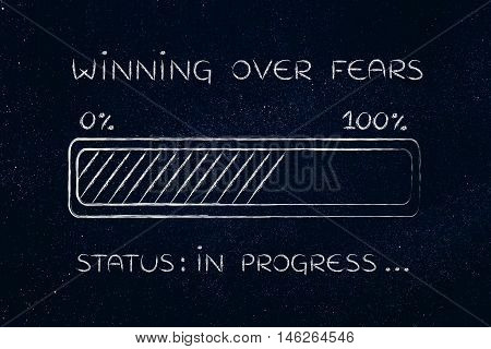 Winning Over Fears Progress Bar Loading