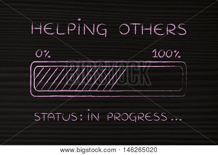 Helping Others Progress Bar Loading