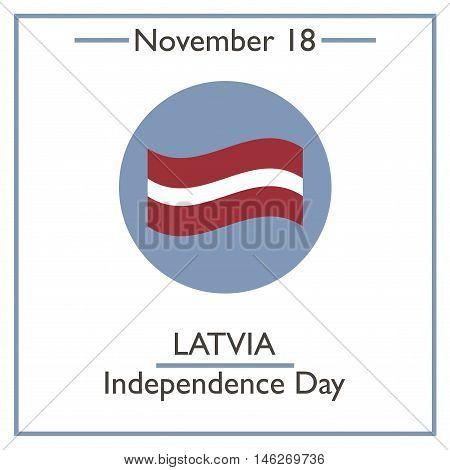 Latvia Independence Day. November 18