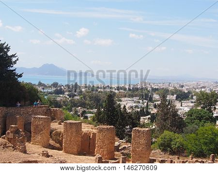 Ruins of Carthage in the territory of modern Tunisia