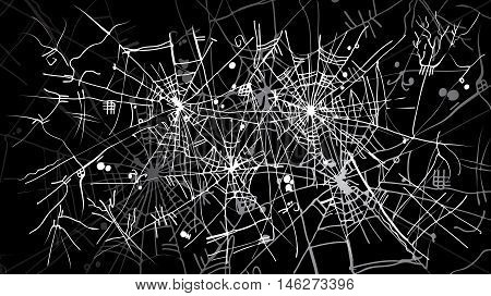 Halloween web background 323-Bk. Eau-forte black-and-white decorative texture vector illustration.