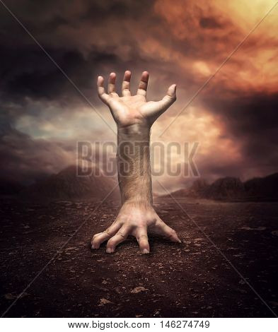 Strange human hand