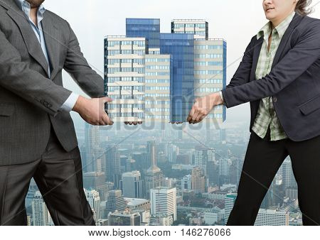 Businesspeople arguing
