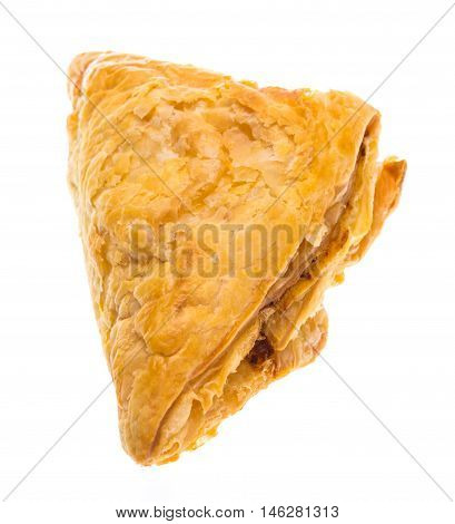 puff pastry isolated on white background. studio shot.