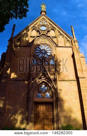 Loretto Chapel completed in 1878 which is a historic cathedral and is a popular place for weddings taken in Santa Fe, NM