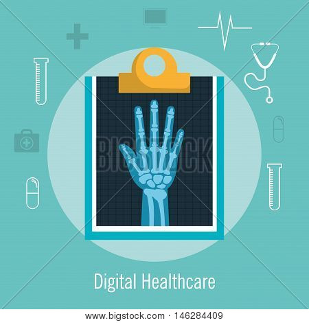 x ray service medical health isolated vector illustration eps10