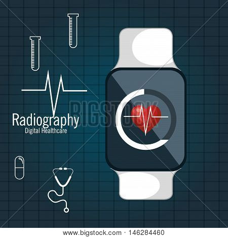 cardiology medical service isolated vector illustration eps 10