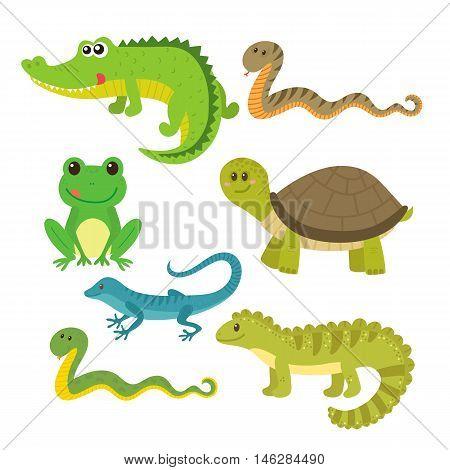 Set Of Creeping Things. Wild Animals