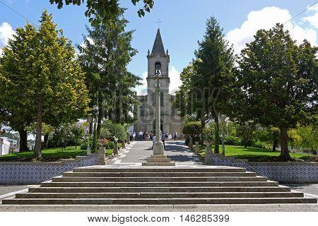 Beautiful view of a church in Pacos de Ferreira, PORTUGAL.