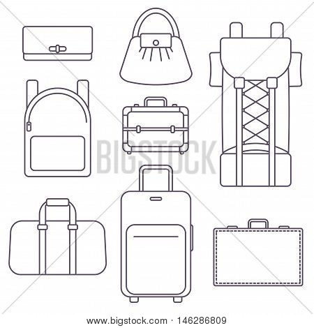 Different types of bags suitcase backpack kinds of luggage