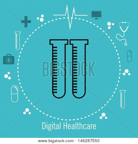 test tube lab services medical healthcare isolated vector illustration eps 10