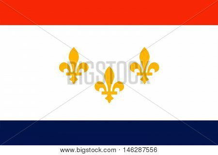 Flag of New Orleans in the state of Louisiana United States