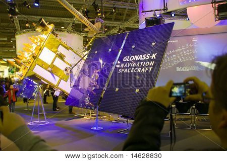 Hannover, Germany - March 5, 2011: Stand Of The Glonass-k In Cebit Computer Expo, Hannover, Germany.