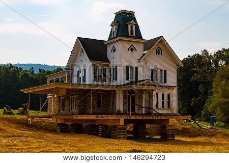 Newmanstown PA - September 8 2016: A large 1790's house known locally as