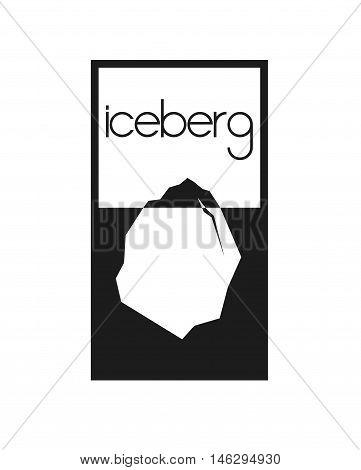 Iceberg logo. Isolated on white iceberg icon illustration. Vector.
