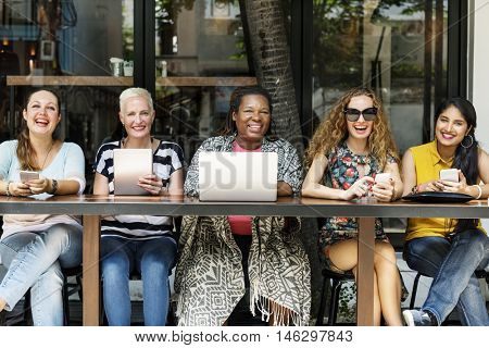 Femininity Bonding Brunch Cafe Casual Socialize Concept