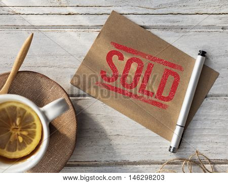 Sold Notice Stamp Concept
