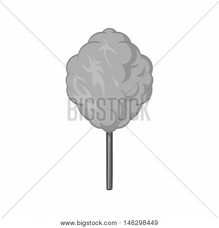 Cotton candy icon in black monochrome style isolated on white background. Sweets symbol vector illustration