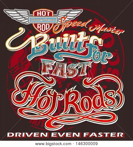 hot rod graph vector for T-shirt printed and poster