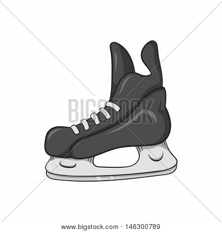 Skates icon in black monochrome style isolated on white background. Sport symbol vector illustration