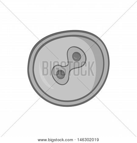 Fertilized egg icon in black monochrome style isolated on white background. Pregnancy symbol vector illustration