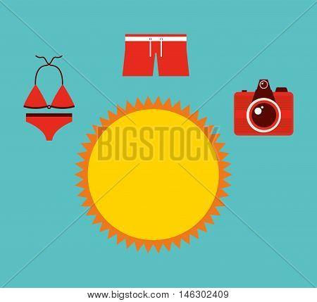 best summer vacation holiday vector illustration design