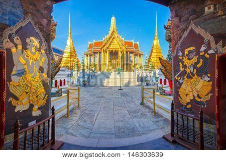 Wat Phra Kaew Temple of the Emerald Buddha Bangkok Thailand