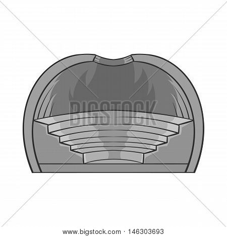 Indoor stadium icon in black monochrome style isolated on white background. Championship symbol vector illustration