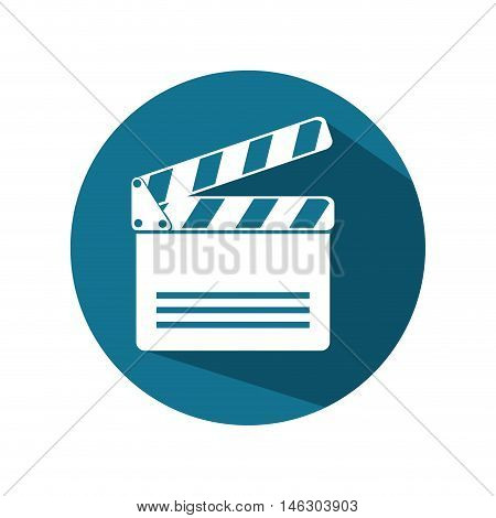 icon clapperboard movie design vector illustration eps 10