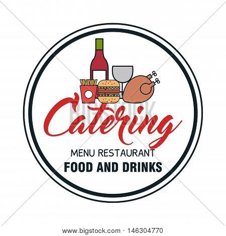 icon catering service food design vector illustration eps 10
