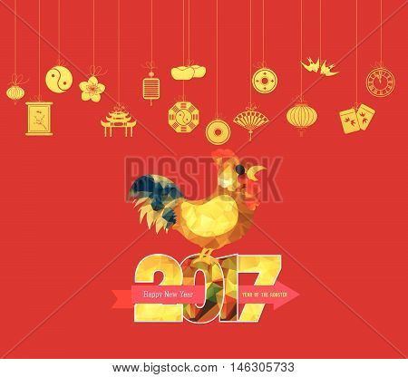 Oriental Happy Chinese New Year 2017 design