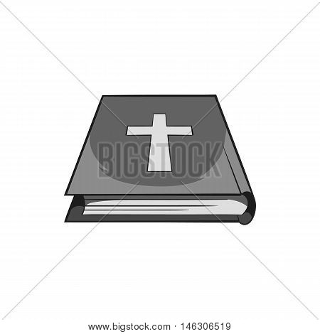 Book of the Bible icon in black monochrome style isolated on white background. Books and religion symbol vector illustration