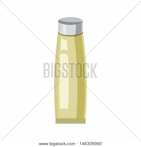 Cosmetic tube for cream in cartoon style isolated on white background vector illustration