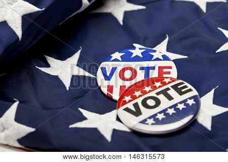 United States of America Election Day. Vote badges. Voting.
