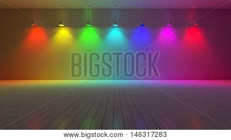 3D Interior-spectrum Color