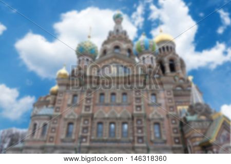 Church of the Savior on blur for background use russia - can use to display or montage on your product