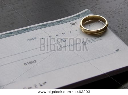 Ring And Checkbook