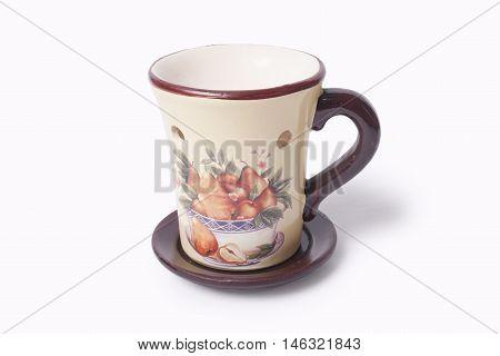 Ceramic Oil burner isolated on white background