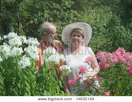 Mature Couple In The Garden
